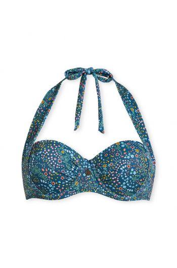 Bikinitop mit Bügel Beldi dunkelblau
