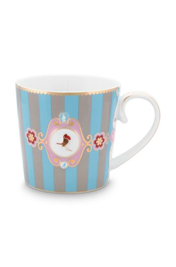 mug-love-birds-large-in-blua-and-khaki-with-bird-and-stripes