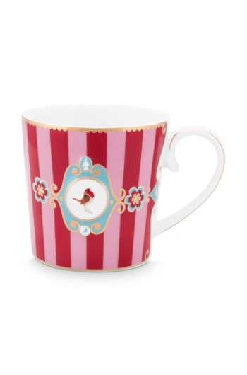 mug-love-birds-large-in-red-and-pink-with-bird-and-stripes