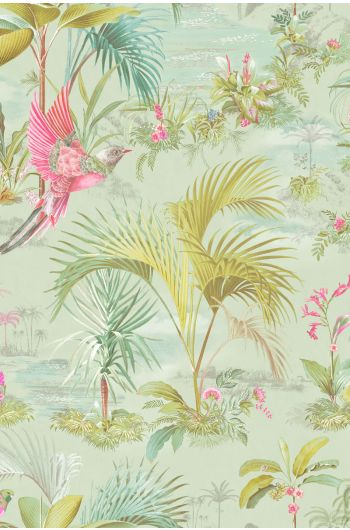 Pip Studio Palm Scene Wallpaper Green
