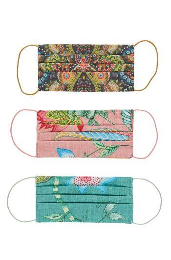 Reusable Face Masks 3-Pack Multicoloured