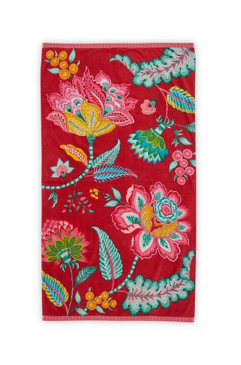 Beach Towel Jambo Red 100 x 180 cm