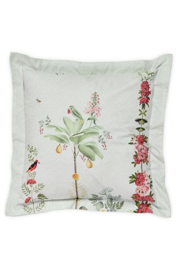 Cushion square Babylons garden White