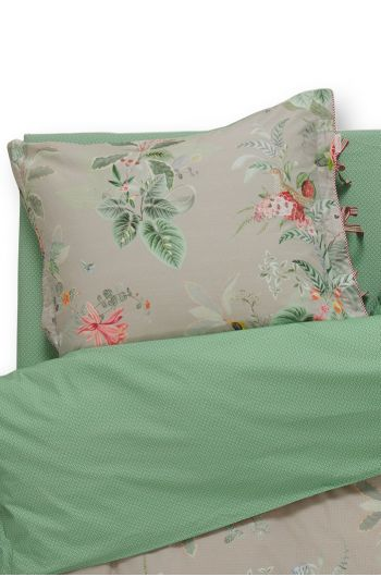 Pillowcase Floris Khaki