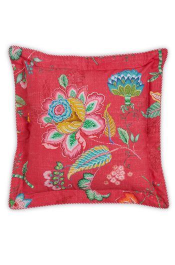 Vierkant sierkussen Jambo Flower Rood