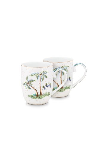 porselein-set/2-mugs-small-jolie-dots-gold-145-ml-1/24-wit-pip-studio-51.002.246