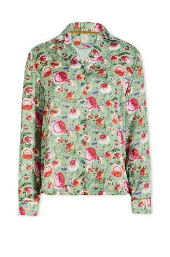 Top Long Sleeve Folklore Fantasy Green