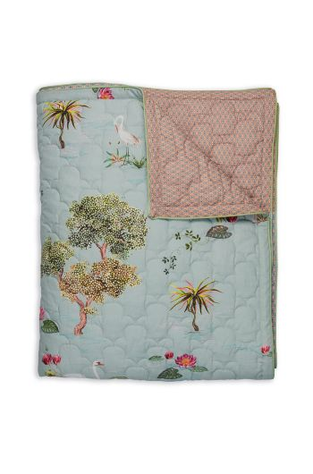 quilt-little-swan-grey-three-flowers-pip-studio