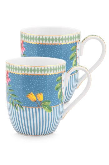 set-2-mug-small-la-majorelle-made-of-porcelain-with-flowers-in-blue