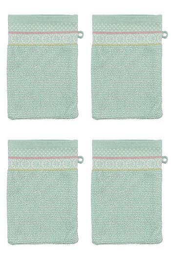 Wash Cloth Set/4 Soft Zellige Blue 16x22 cm