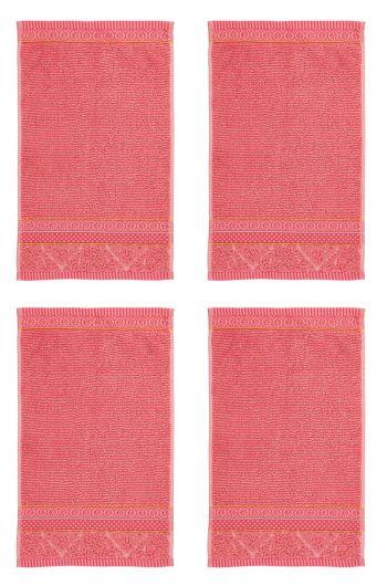 Gästehandtuch Set/4 Soft Zellige Koralle 30x50 cm