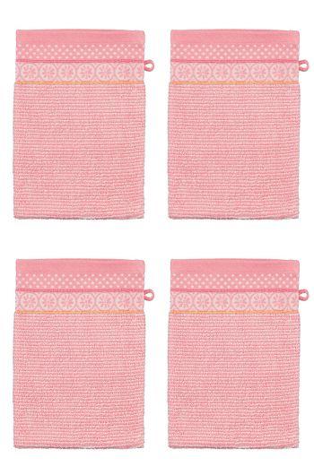 Washandje Set/4 Soft Zellige Roze 16x22 cm