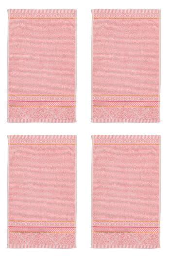 Gastendoek Set/4 Soft Zellige Roze 30x50 cm