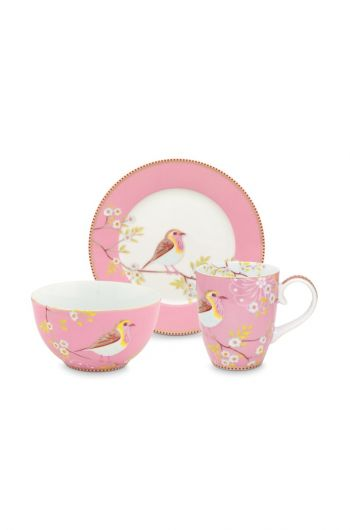 Early Bird Set of 3 Breakfast Set Pink