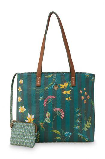 shopper-medium-fleur-grandeur-green-32/47x18.5x31-cm-artificial-leather-1/12-pip-studio-51.273.240