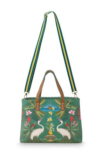 shopper-small-heron-hommage-groen-33/39x10x22-cm-artificial-leather-1/12-pip-studio-51.273.239