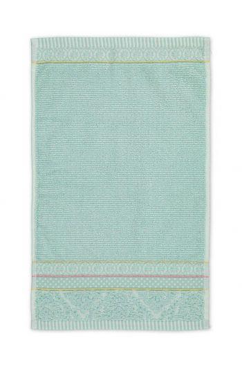 Gästehandtuch Soft Zellige Blau 30x50 cm