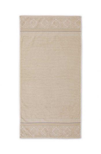 Duschlaken Soft Zellige Khaki 70x140 cm