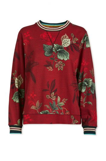 sweater-leafy-stitch-in-red-with-flower-design