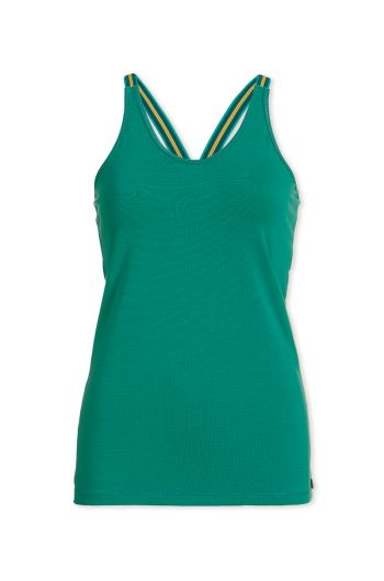 Top sleeveless Stripers Green