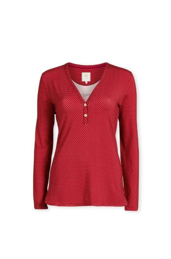 Top Long Sleeve Twinkle Star Red