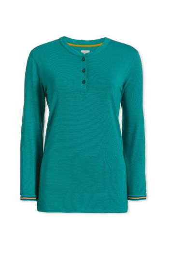 Top Long Sleeve Stripers Green