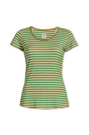 Top short sleeve Sleepy Stripers Green