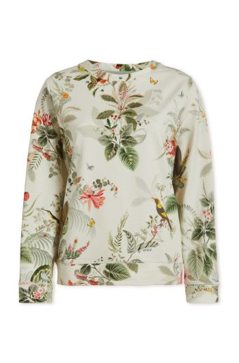 Top Long Sleeve Floris Off White
