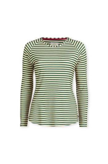 Top Lange Mouw Sleepy Stripe Blauw