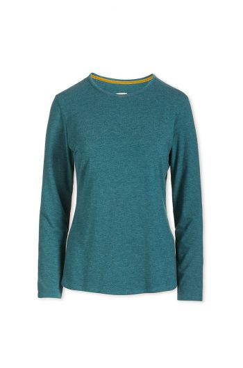 Top Long Sleeve Petrol Melee
