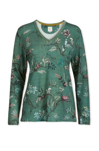 Top Long Sleeve Woodland Nights Green
