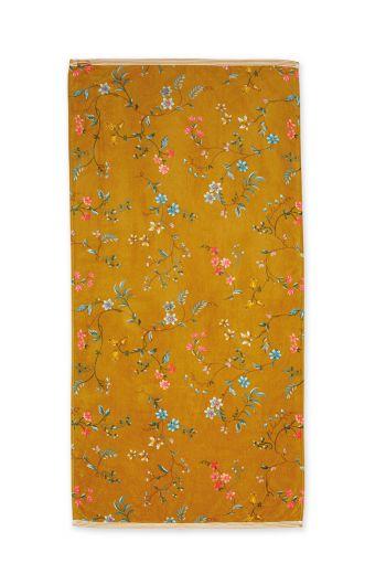handdoek-les-fleurs-geel-bloemen-70x140-pip-studio-217834