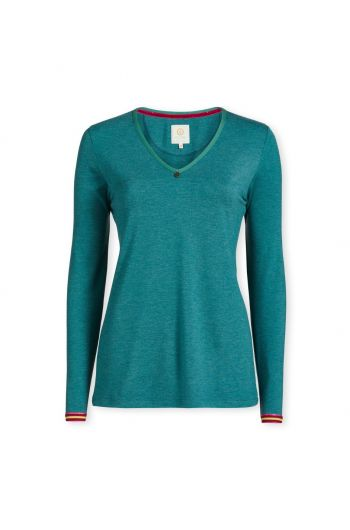 Top Long Sleeve Melee Green