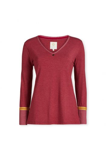 Top Long Sleeve Melee Red