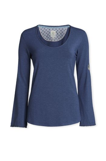 Top Long sleeve Melange/Melee Dark blue
