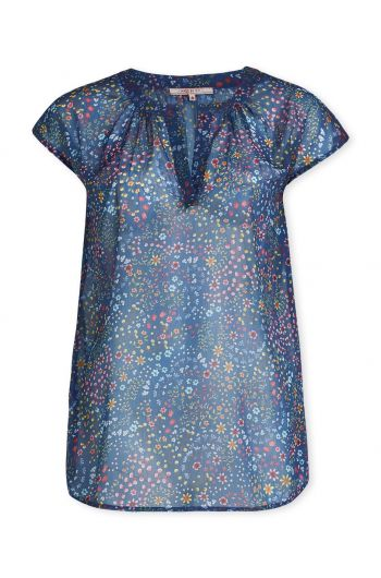 Top short sleeve Beldi Dark Blue