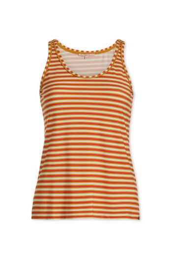 Top sleeveless Sleepy Stripers Coral