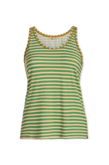 Top sleeveless Sleepy Stripers Green
