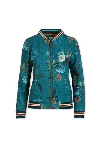 Vest Lange Mouw Leafy Stitch Blauw