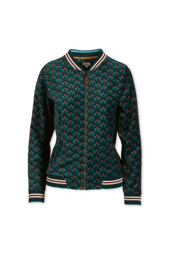 Bomberjacket Lilly Lotus Green Velvet