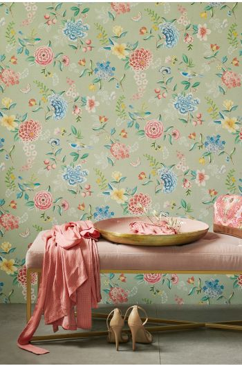 wallpaper-non-woven-vinyl-flowers-green-pip-studio-good-evening
