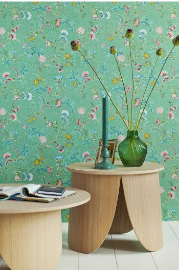 wallpaper-non-woven-vinyl-flowers-green-pip-studio-la-majorelle