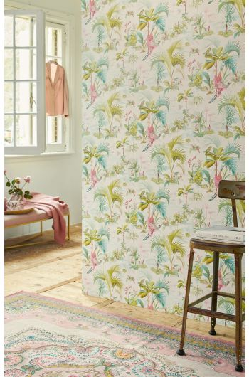 wallpaper-non-woven-vinyl-paradise-bird-palms-white-pip-studio-palm-scene