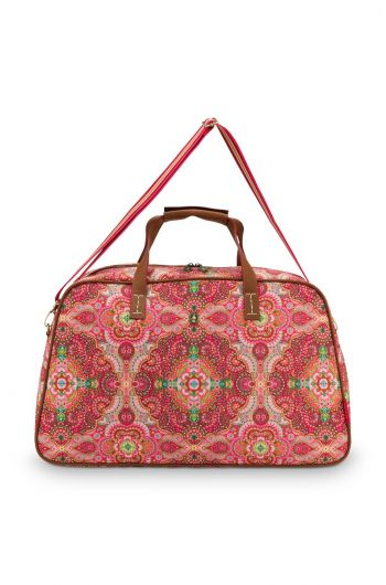 weekend-tas-moon-delight-medium-in-rood-met-bloemen-print