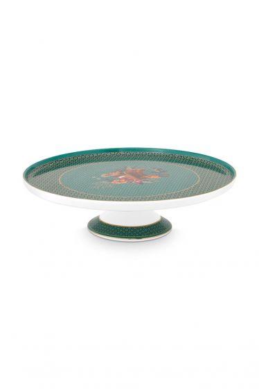 Taart-plateu-mini-groen-gouden-details-winter-wonderland-pip-studio-21-cm
