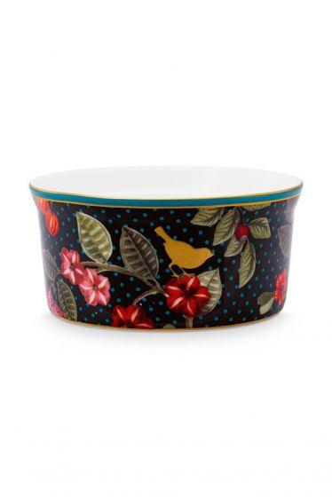 Ramequin-round-dark-blue-gold-details-winter-wonderland-pip-studio-8,7x4,3-cm