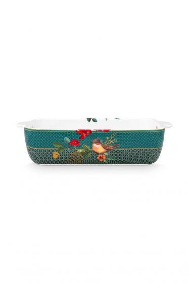 Baking-dish-rectangular-green-gold-details-winter-wonderland-pip-studio-27,5x18,5x6,5-cm