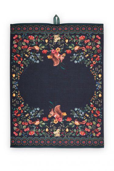 Tisch-tuch-dunkel-blau-winter-wonderland-pip-studio-50x70-cm