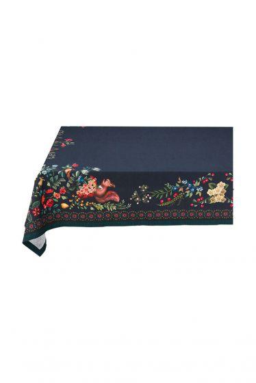 Winter Wonderland Tablecloth Dark Blue 100x100