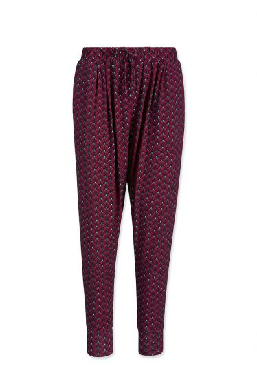 Lange Hose Lilly Lotus Rot